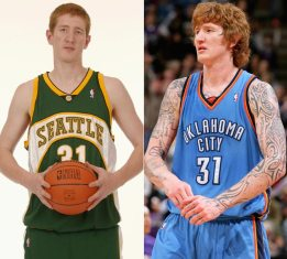 Rookie Year in 2004 to last year in the NBA 2009.