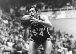 Bill Bradley Of NY Knicks Prepares To Shoot