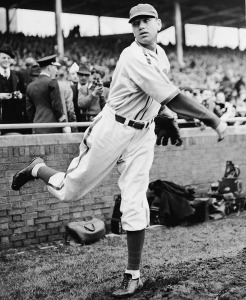 Chicago Cubs Pitcher Dizzy Dean Warms Up Pitch At Game