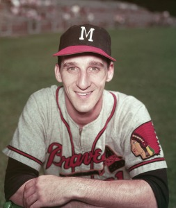 Warren Spahn In Milwaukee Braves Uniform