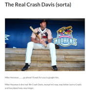 article link: https://thecola.net/casey-s-gutting/the-real-crash-davis-sorta/