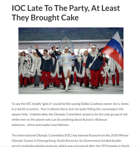 article link: https://thecola.net/2017/12/14/ioc-late-to-the-party-at-least-they-brought-cake/