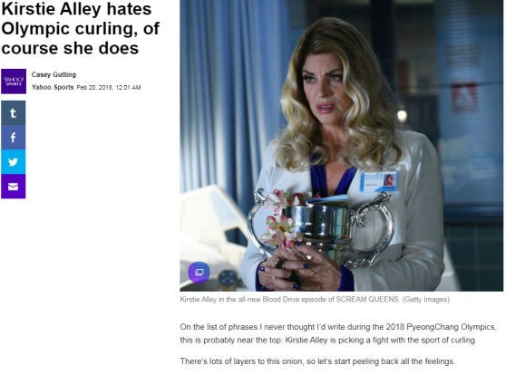 article link: https://sports.yahoo.com/kirstie-alley-hates-olympic-curling-course-080128781.html